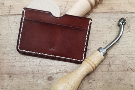 Leather Workshop - Make a Card Case in supple naturally tanned leather