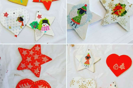 Christmas Decoupage Tags