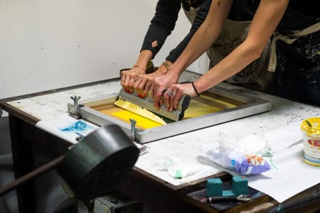 Screenprinting with Underway Studio: Brutalist Edition
