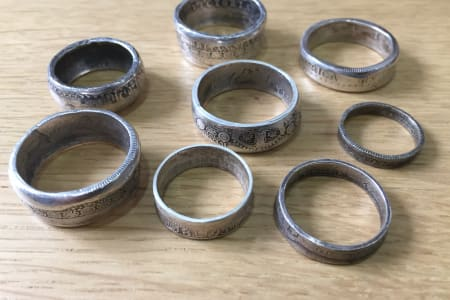 Sterling Silver Coin Rings