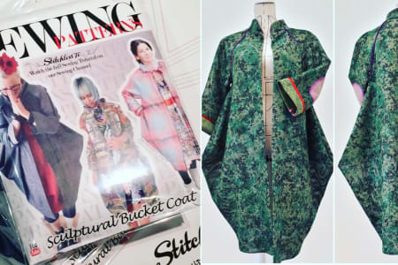 """Sew your own """"Sculptural Bucket Coat"""" with Tree from Stitchless TV"""