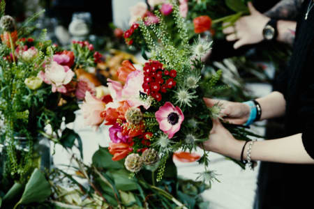 Seasonal Hand-Tied Bouquet Workshop With Complementary Drink