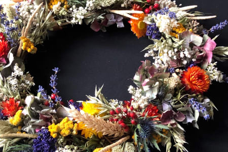 Autumnal,Thanksgiving, Christmas, dried flowers Wreaths making workshop, suitable for everyone!