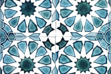 Ceramic Tiles with Geometric Pattern
