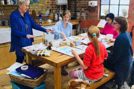 Watercolour workshop with Gillan Burrows