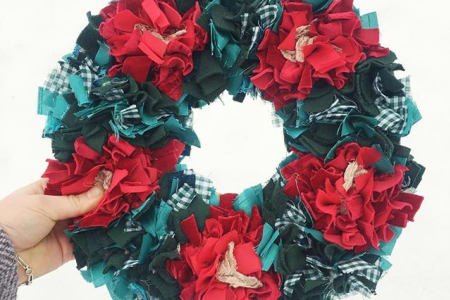 Rag Rug Wreath with Elspeth Jackson