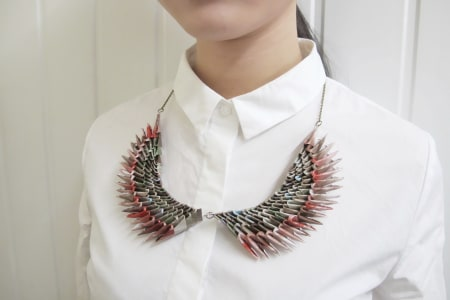 Up-Cycle Paper Into a Necklace