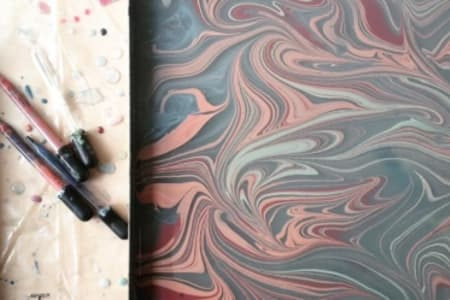 Fabric Marbling - explore fabric art