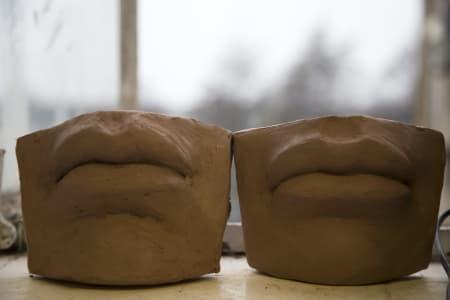 Sculpt David's Lips