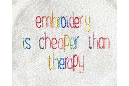 Stitch Therapy - Mindful Embroidery Workshop
