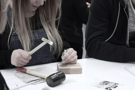 Jewellery Stamping with J&J Workshops at Obby Popup at Make More Festival