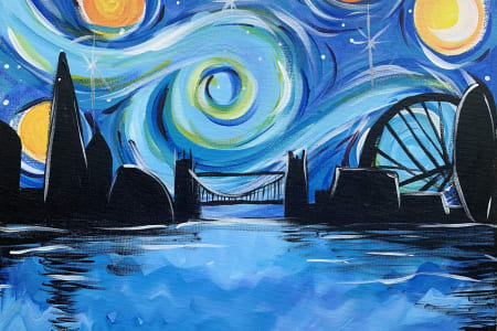 Paint & Wine - Starry Night over London | The Canonbury Tavern