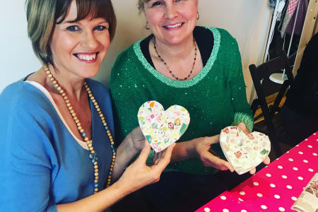 Ladies Night Bring your own Prosecco (optional) Make a Mosaic Heart or House using Vintage China