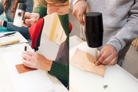 Taster Leather Craft Workshop with a leather artisan