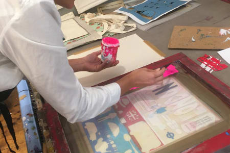 Beginners - Screen Printing on to Fabric - Private Class for One