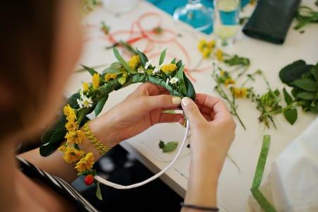 Flower crown making workshop