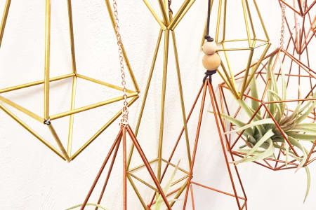 Geometric Brass Plant Holder Workshop
