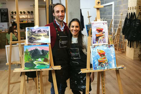 Couple painting session