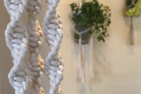 Beginners Macrame Workshop - Make your own plant hanger to decorate your room with or as a gift