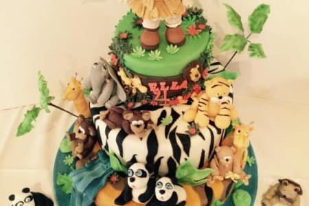 Jungle Animal Cake Modelling