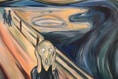 Paint & Wine - The Scream | The Canonbury Tavern - Paintvine