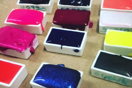 Private workshop: Make your own Watercolour Paint Set.