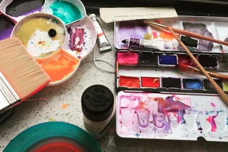 Private Class: Experimental Watercolours