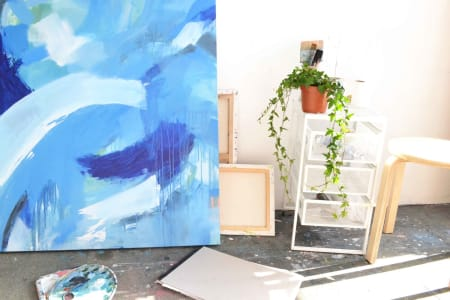 Beginner's Expressive Abstract Painting on Canvas Workshop
