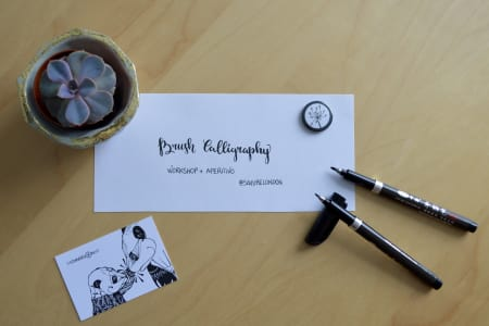 Intro to Brush Calligraphy : Workshop + Aperitivo