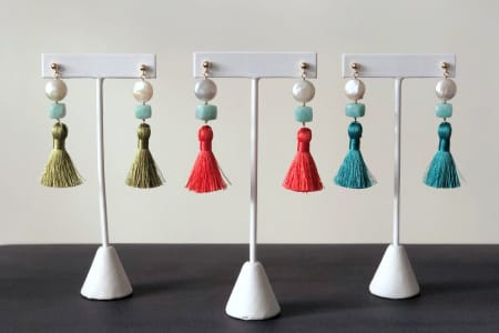 Make Your Own Luxurious Tassel Earrings