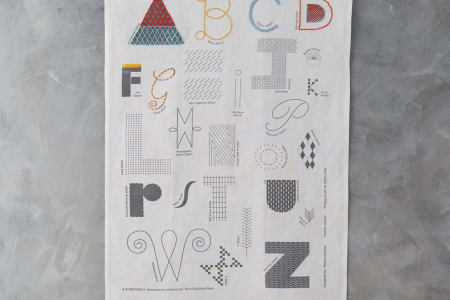 Stitch School A - Z embroidery sampler