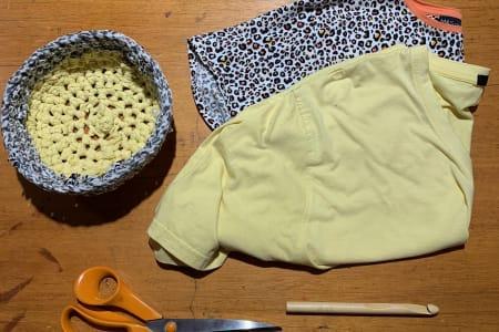 Make T-Shirt Yarn and Learn Basic Crochet