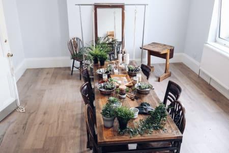 Make your Own Terrarium and Macrame Plant Hanger Combo Masterclass