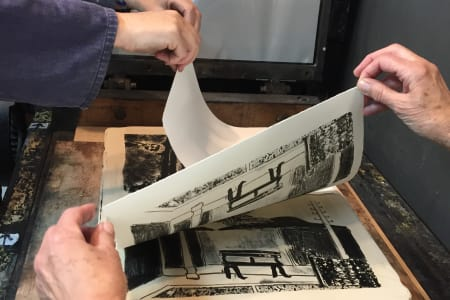 Stone Lithography Printmaking