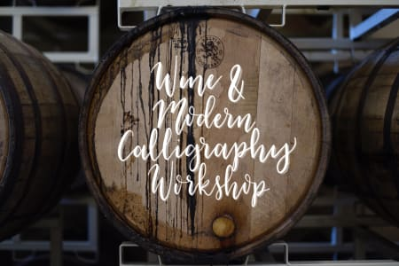 Wine and Modern Calligraphy Workshop