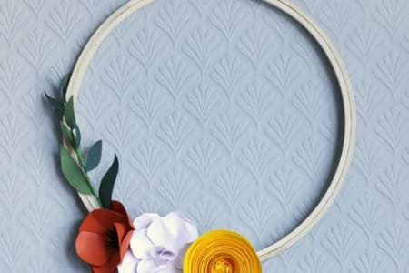 Botanical Paper Art : Flower Wreath