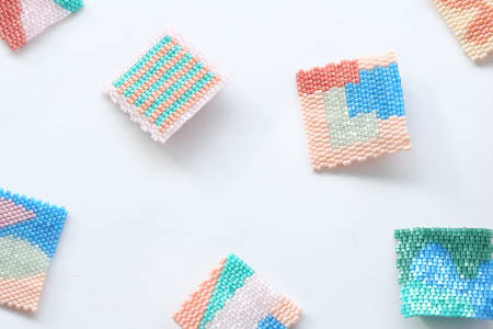 Glass Beadweaving - Make your own Brooch
