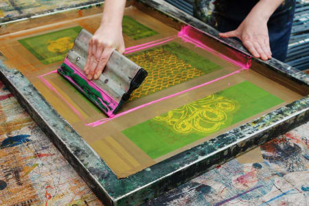 Beginners Screen Printing on Textiles