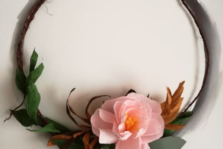 Paper Flower Hoop Making