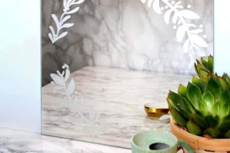 Try Acid Etching on Mirror