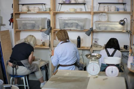 Monday Afternoon-Pottery Course on the Wheel