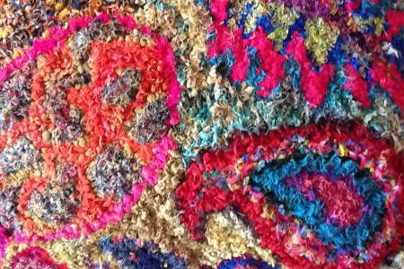 Rag Rug weaving- Hooked into textiles