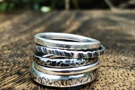 Beginners Silversmithing - Jewellery Making: Silver Stacking Rings