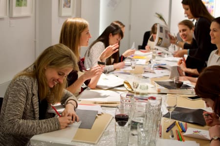 Art Workshops with Food & Wine