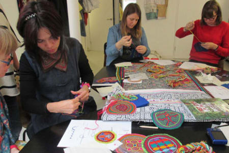 Studying & Stitching Amazonian Hand Embroideries with Bella Lane