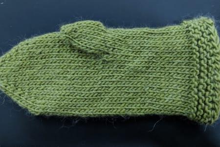 Knit Mittens on Circular Needles