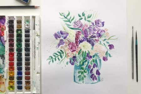 Make Your Own Watercolour Flowers Painting