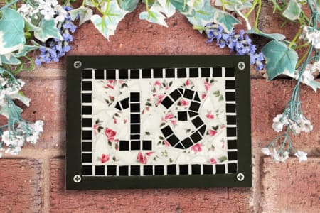 Mosaics - Make your own Mosaic Door Number plaque using Vintage China