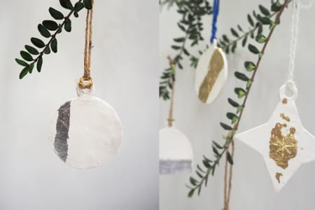 Make Your Own Ceramic and Gold Leaf Decorations