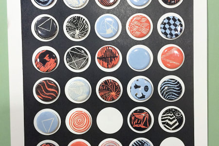 Learn to Make Badges with Relief Printing
